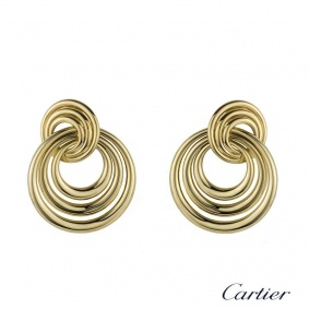 Cartier 18k Yellow Gold Circular Earrings